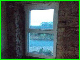bedroom window wall stripped down